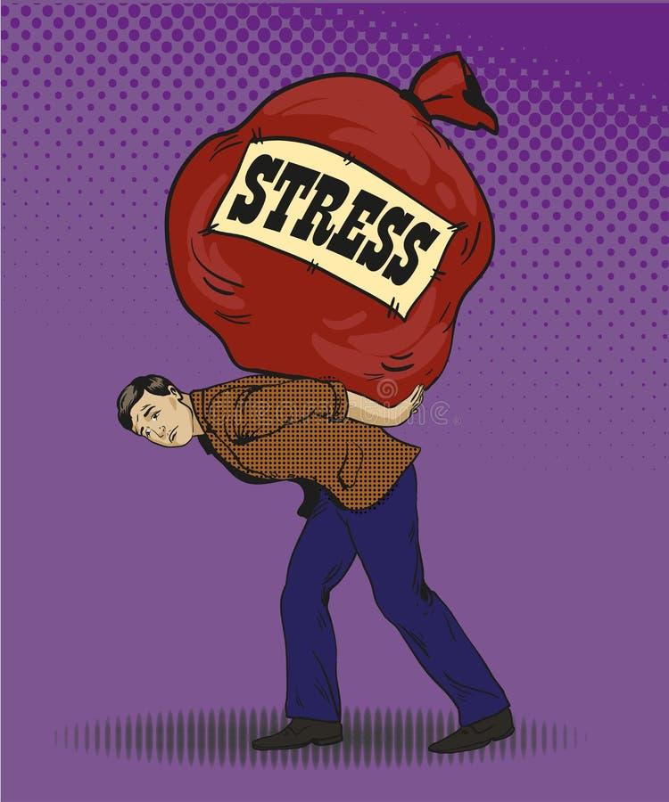 Ludzie w stres sytuacj pojęcia wystrzału wektorowej ilustracyjnej sztuce projektują ilustracji