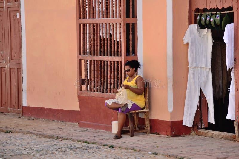 Ludzie w Trinidad, Kuba obrazy royalty free