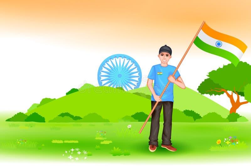 Download Ludzie z indianin flaga ilustracja wektor. Ilustracja złożonej z kultura - 57668648