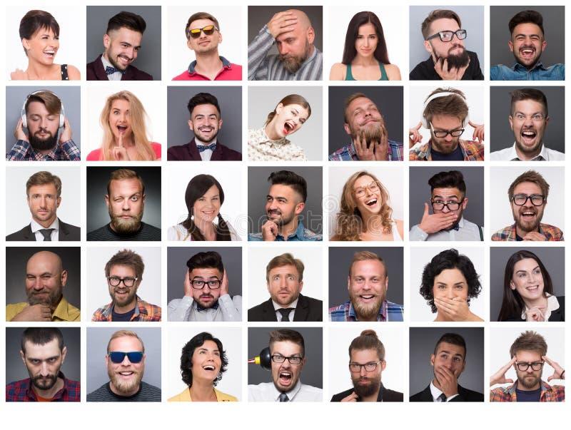 Ludzie z różnymi emocjami zdjęcie royalty free