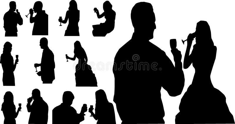 Ludzie z szkłem ilustracji