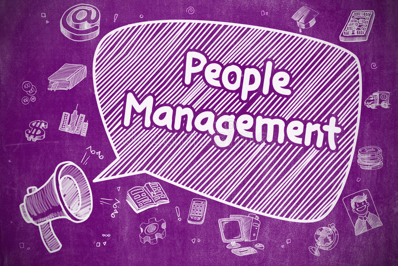 Ludzie zarządzań - Biznesowy pojęcie royalty ilustracja