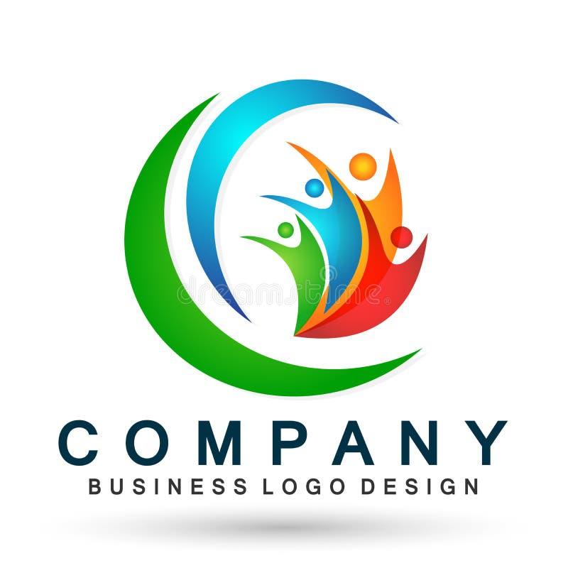 Ludzie zjednoczenie drużyny pracy wellness społeczności logo ikony elementu ogólnospołecznego wektoru na białym tle royalty ilustracja