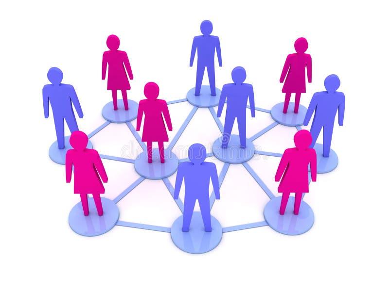 Ludzie związków. Ogólnospołeczna sieć. ilustracji