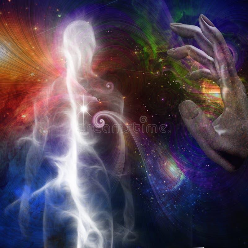 Ludzka dusza lub aura ilustracji