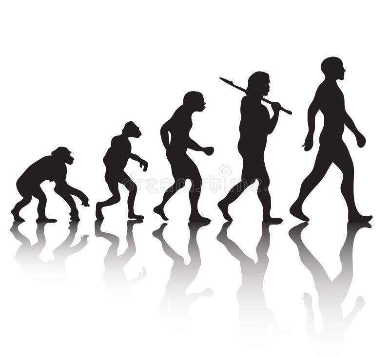 Ludzka ewolucja ilustracja wektor