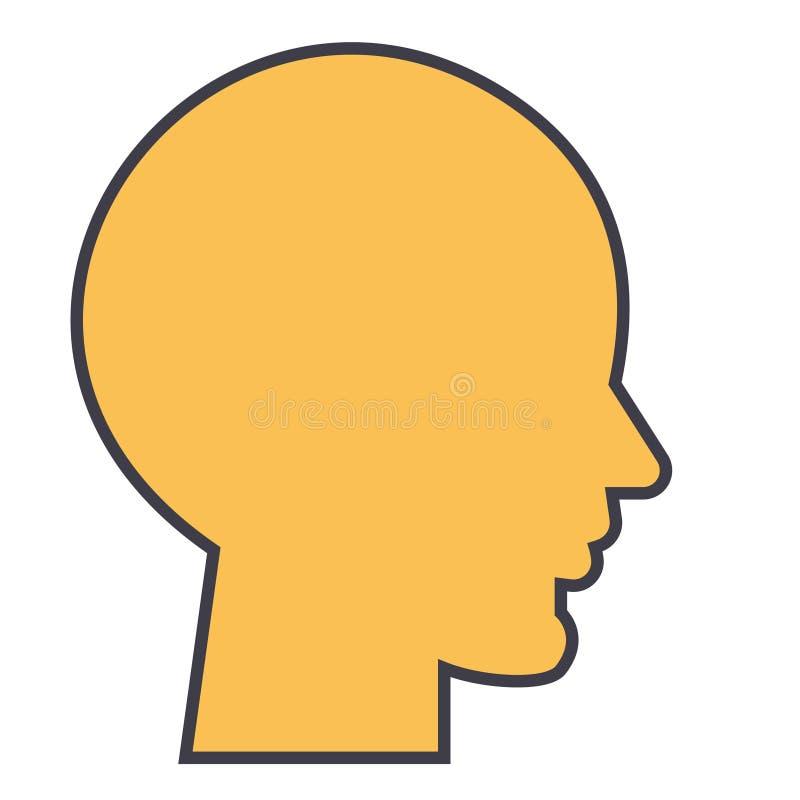 Ludzka głowa, samiec profilowy pojęcie royalty ilustracja