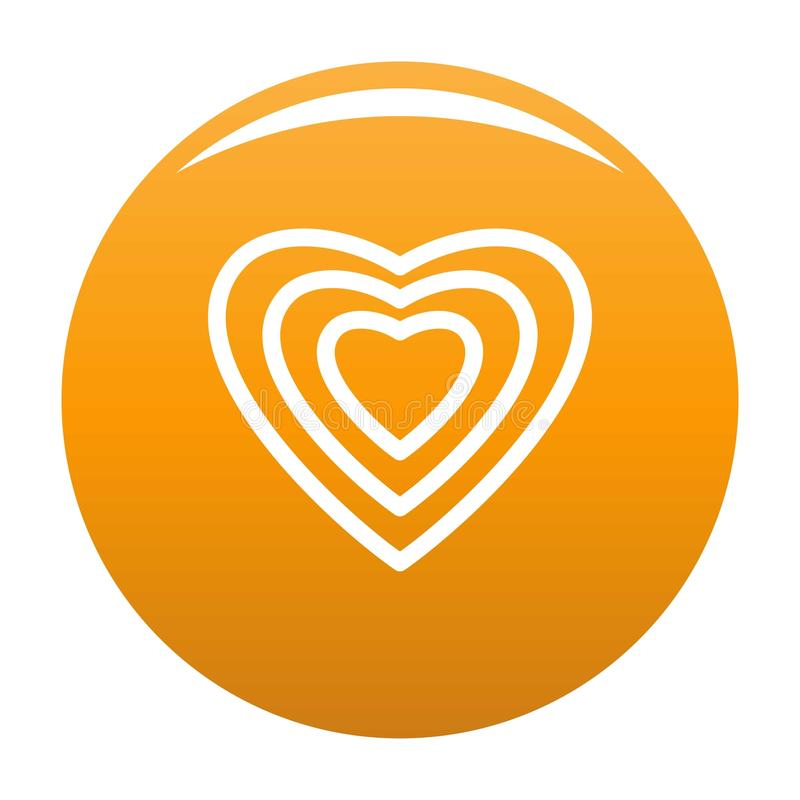 Ludzka kierowa ikony pomarańcze ilustracja wektor