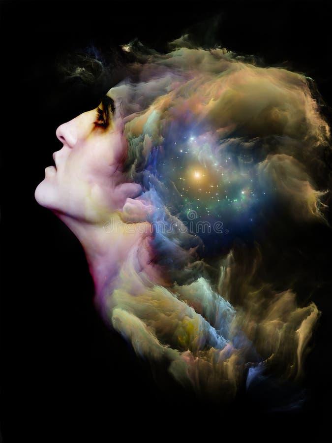 Ludzka mgławica ilustracji