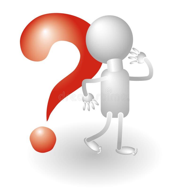 ludzka oceny pytania czerwień ilustracja wektor