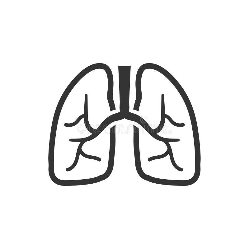 Ludzka płuco ikona ilustracja wektor