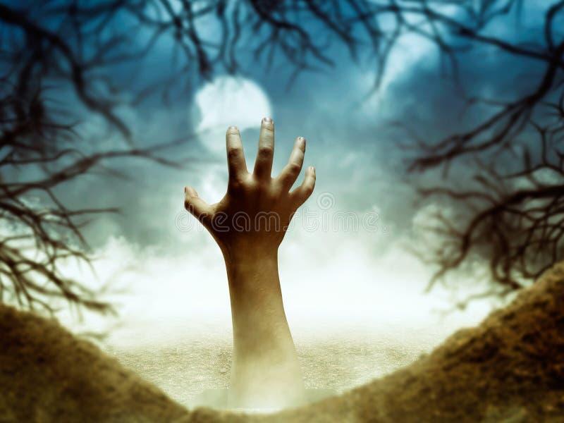 Ludzka ręka od dziury fotografia stock