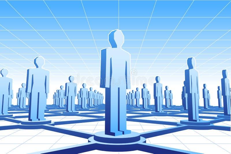 ludzka sieć royalty ilustracja