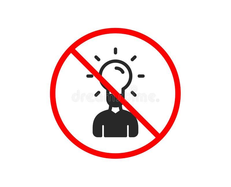 Ludzka sylwetka z pomys? lampy ikon? wektor royalty ilustracja