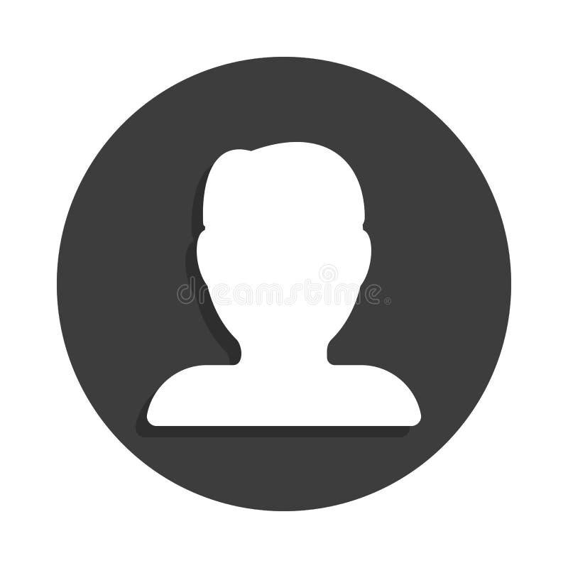 ludzka sylwetki ikona w odznaka stylu z cieniem ilustracja wektor