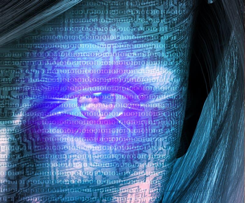 ludzka technologia royalty ilustracja