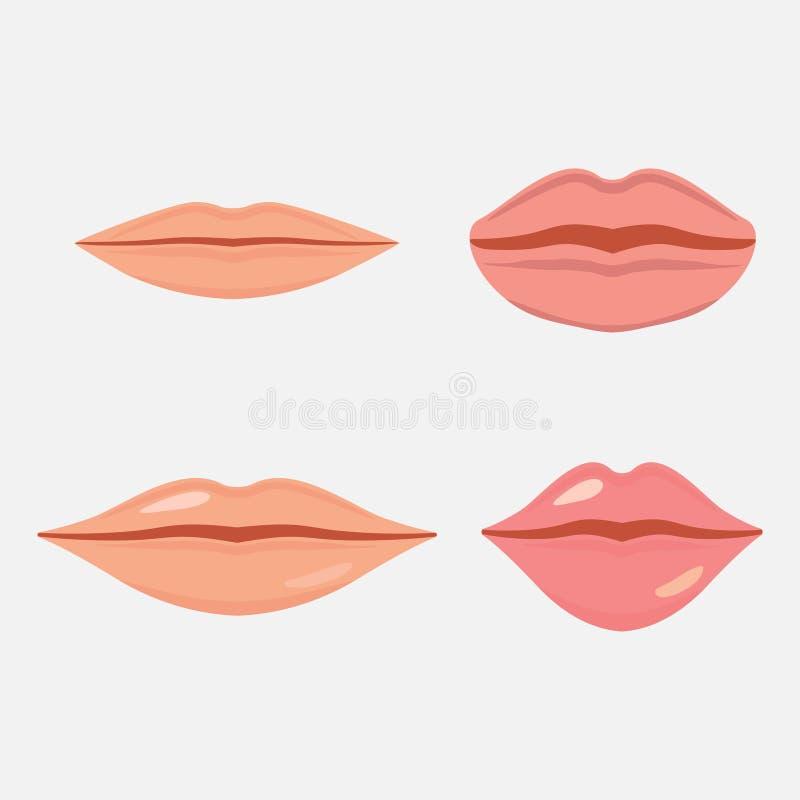 Ludzka usta ikona royalty ilustracja