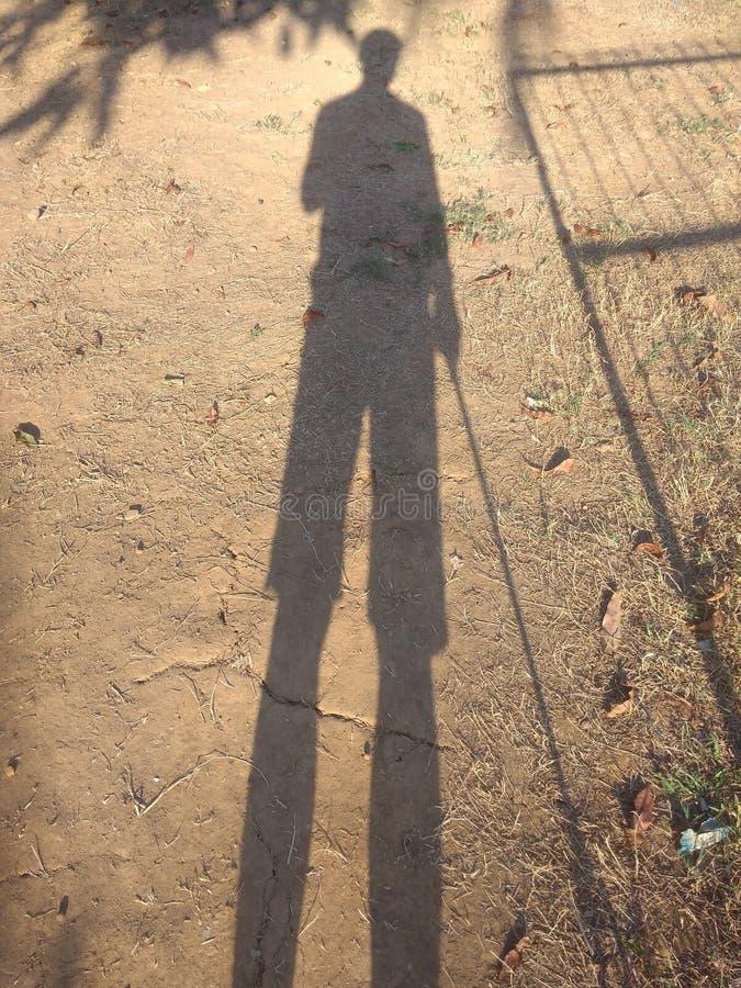 ludzki cień w popołudniu fotografia stock