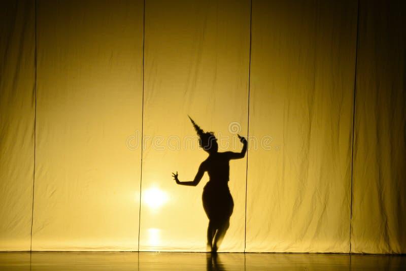 Ludzki cienia przedstawienie zdjęcie royalty free