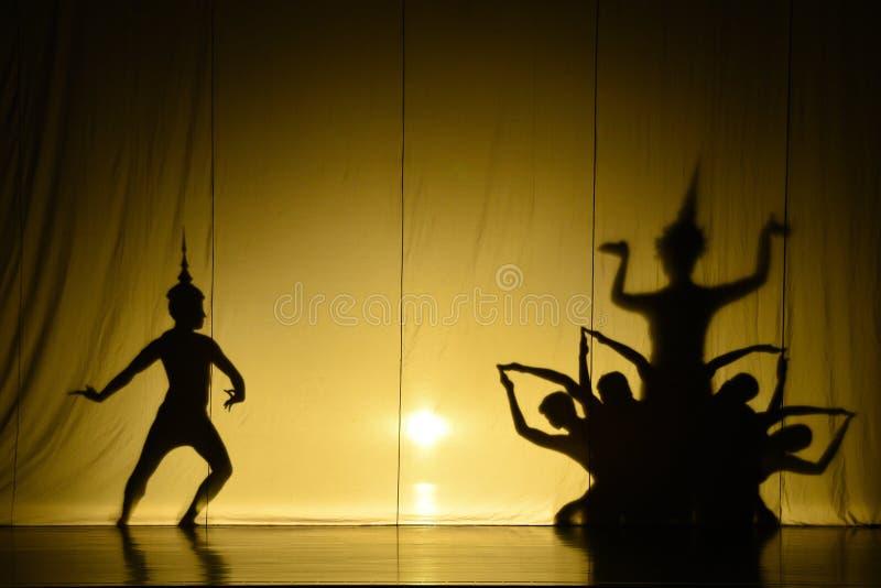 Ludzki cienia przedstawienie fotografia stock