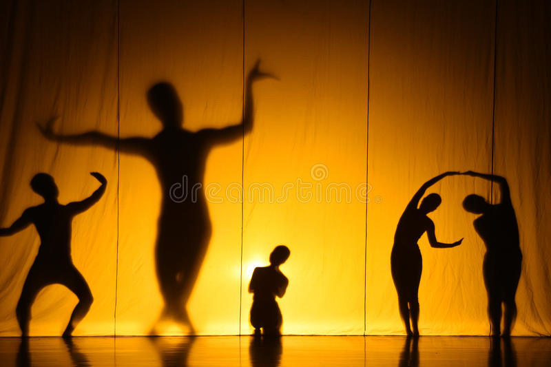 Ludzki cienia przedstawienie obrazy royalty free