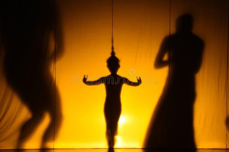 Ludzki cienia przedstawienie zdjęcia royalty free