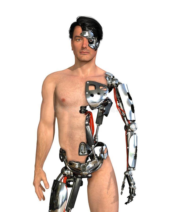 Ludzki cyborg ilustracji