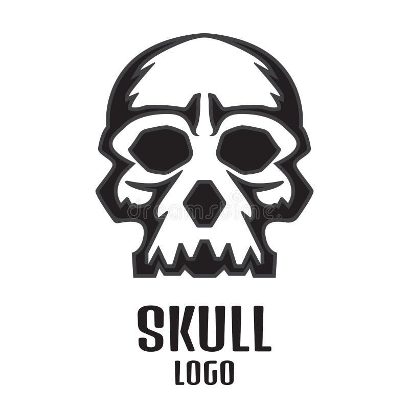 Ludzki czaszka logo również zwrócić corel ilustracji wektora ilustracji
