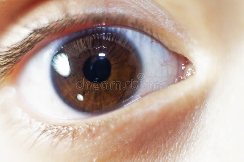 Ludzki gałki ocznej zbliżenie zdjęcie stock