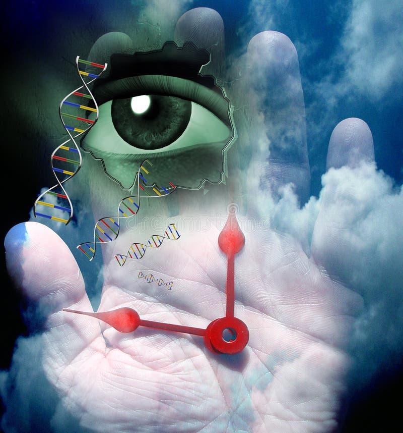 Ludzki Genetyczny DNA ilustracji
