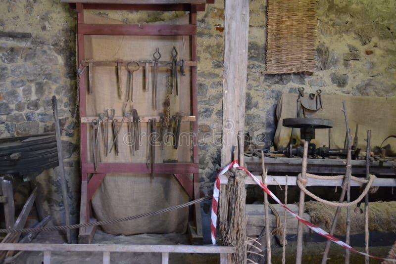 Ludzki kości Dracula Tepes Vlad dom zdjęcia stock