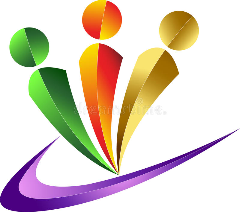 ludzki logo royalty ilustracja