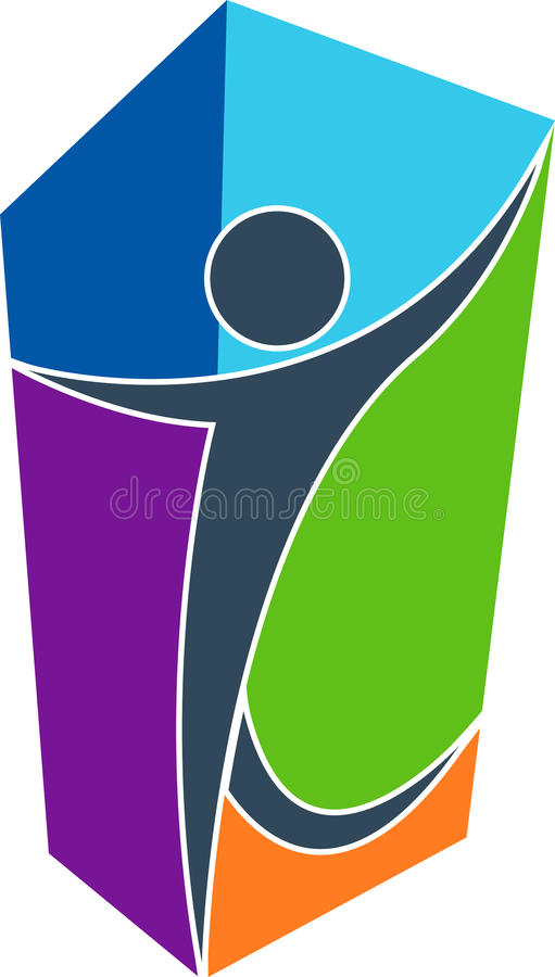 ludzki logo ilustracja wektor