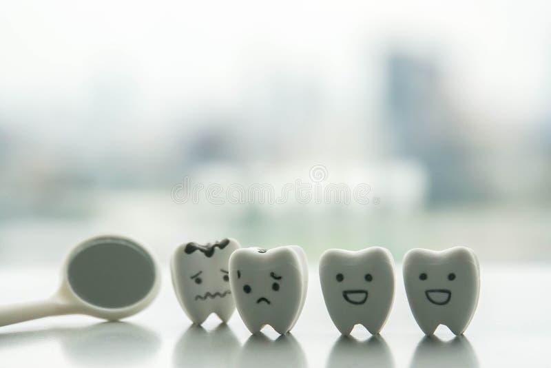 Ludzki oralny zdrowia pojęcie sprawdzać rozpadowych zęby dentystą obrazy stock