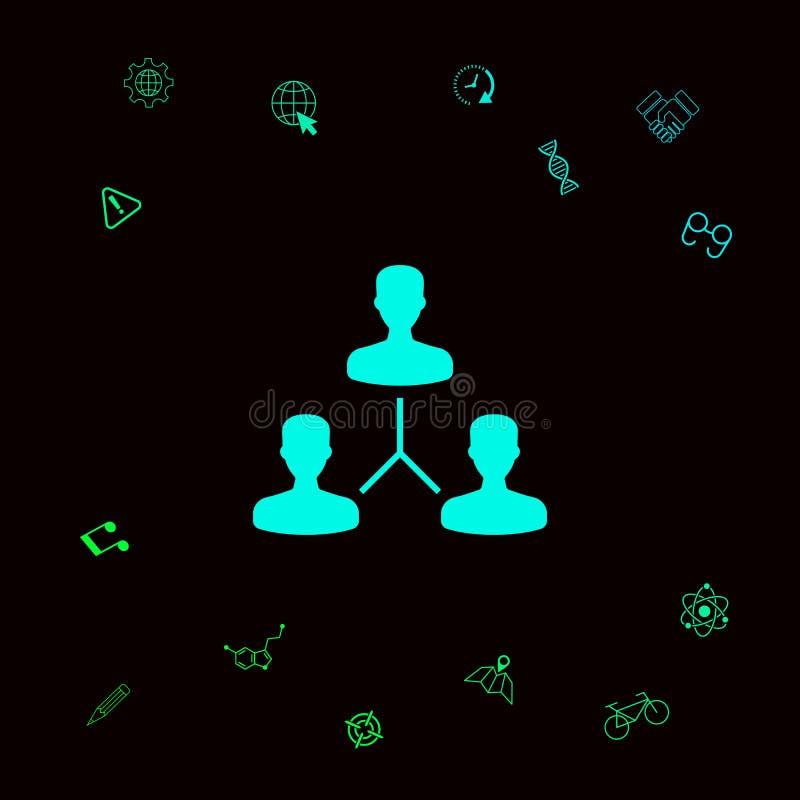 Ludzki podłączeniowy symbol Graficzni elementy dla twój designt ilustracja wektor