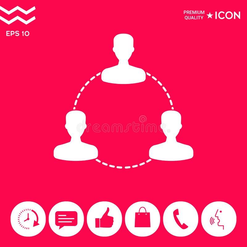 Ludzki podłączeniowy symbol, ikona royalty ilustracja