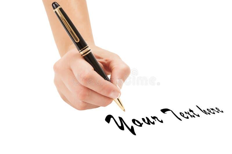Ludzki ręki writing obraz stock
