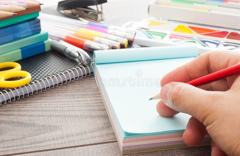 ludzki ręki writing zdjęcia royalty free