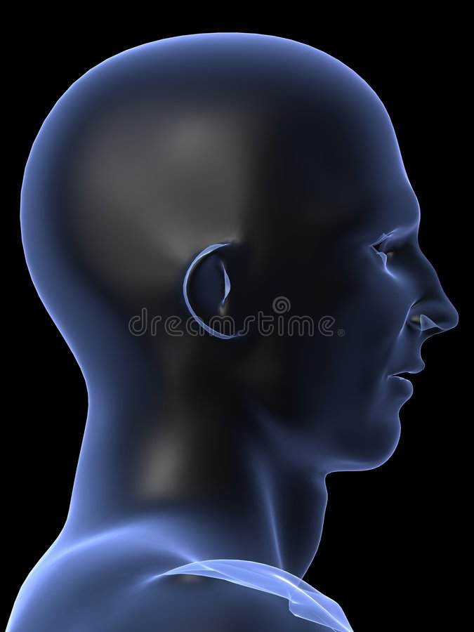 ludzki samiec kształt royalty ilustracja
