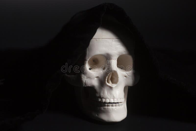 Ludzki scull na czerni zdjęcie royalty free