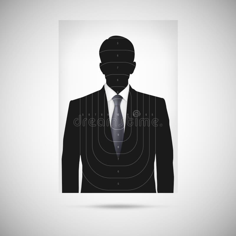 Ludzki sylwetka cel annonymous osoba ilustracji