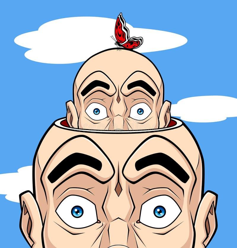 Ludzki umysł royalty ilustracja
