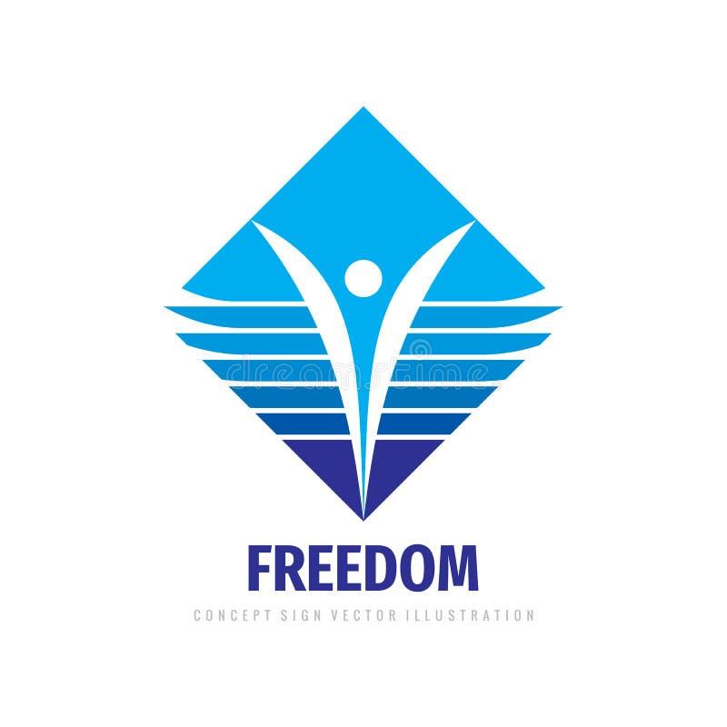 Ludzki wektorowy logo szablonu projekt Post?pu rozwoju znak ilustracja wektor