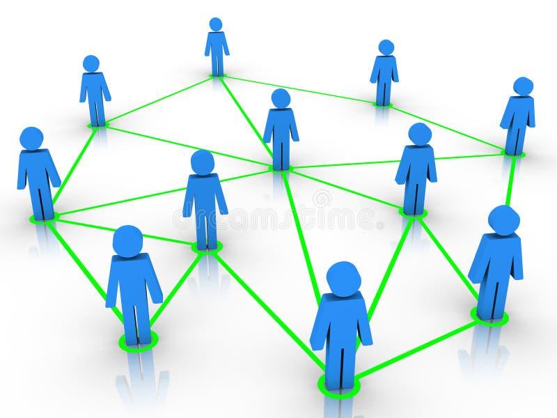 Ludzkie postacie łączyć jako sieć royalty ilustracja