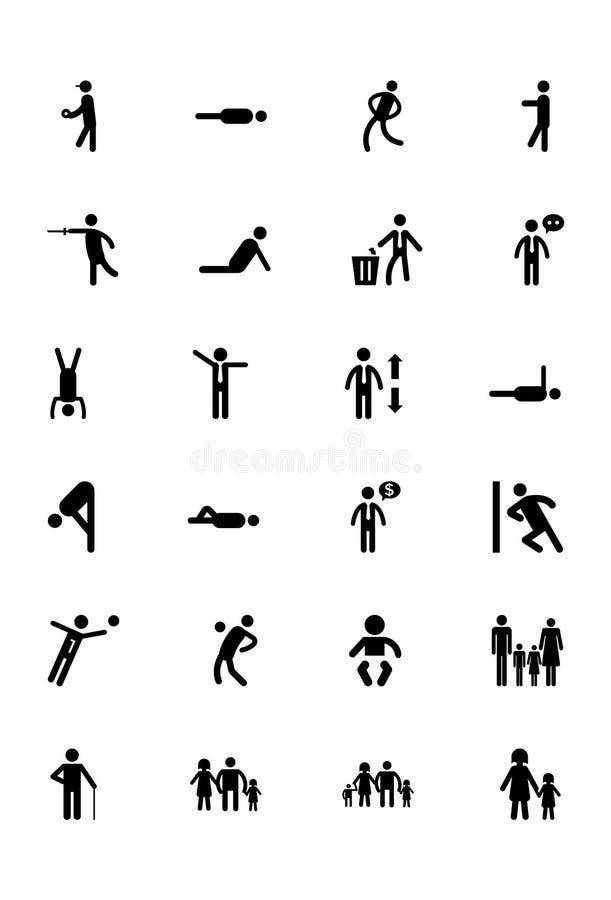 Ludzkie Wektorowe ikony 4 ilustracja wektor