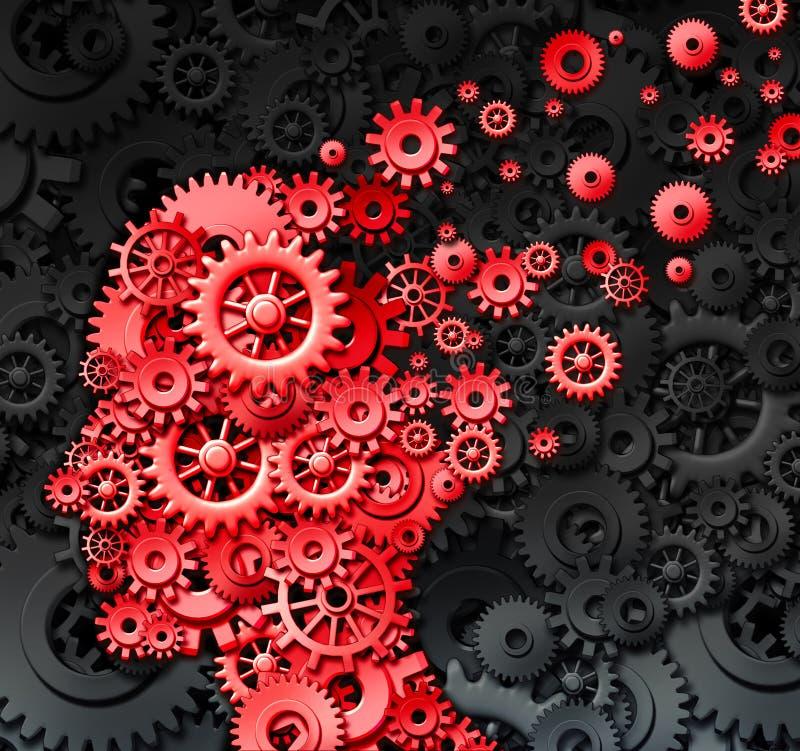 Ludzkiego Mózg uraz ilustracja wektor