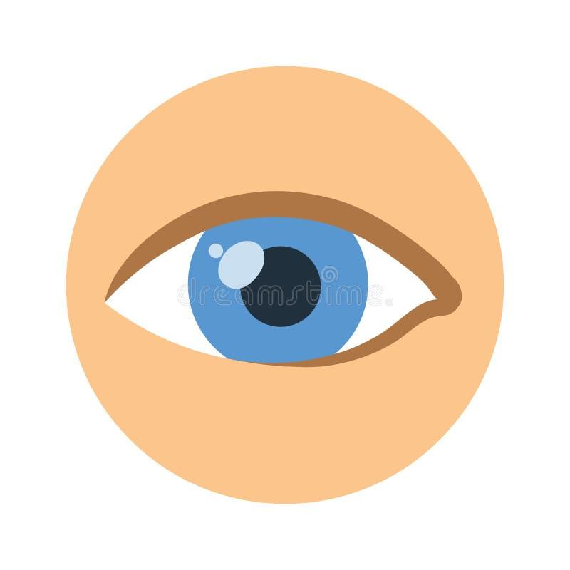 Ludzkiego oka ikona Wektorowa piktogram ilustracja, odizolowywająca na bielu ilustracja wektor