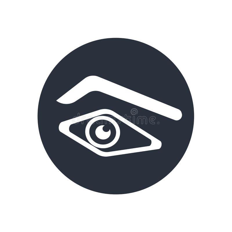 Ludzkiego oka kształta ikony wektoru znak i symbol odizolowywający na białym tle, Ludzkiego oka kształta logo pojęcie royalty ilustracja