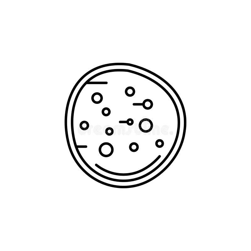 Ludzkiego organu bazofila konturu ikona Znaki i symbole mogą używać dla sieci, logo, mobilny app, UI, UX ilustracja wektor