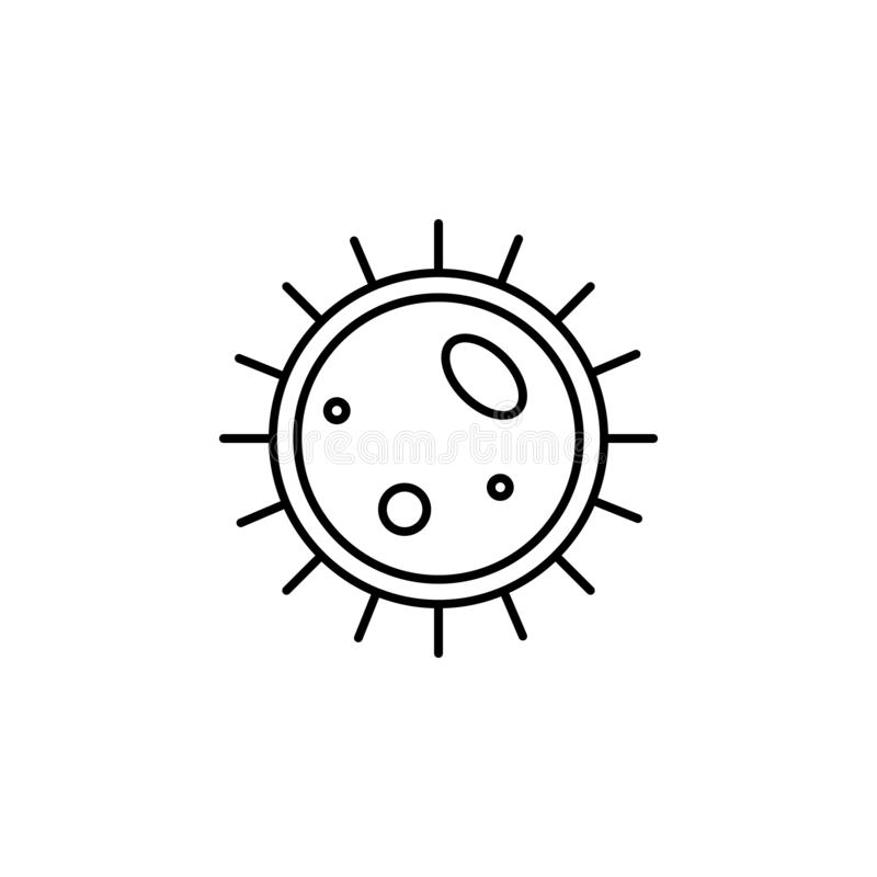 Ludzkiego organu cellule konturu duża ikona Znaki i symbole mogą używać dla sieci, logo, mobilny app, UI, UX royalty ilustracja